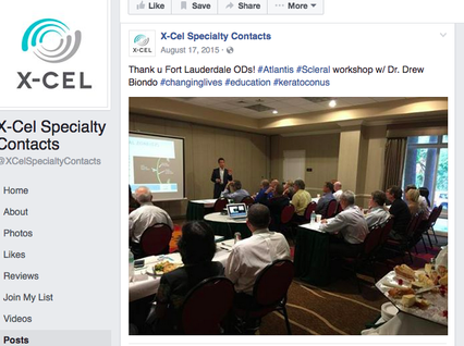 Dr. Biondo speaking to other Optometrists about dry eye and scleral contact lenses